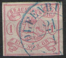 Wolfenbüttel 21/1 Auf 1 Silbergroschen Rot - Braunschweig Nr. 1 - Pracht - Braunschweig