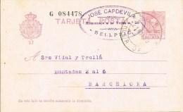 7228. Entero Postal BELLPUIG (Lerida) 1930. Alfonso XIII Vaquer - 1850-1931