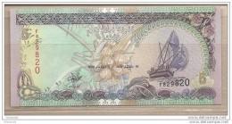 Maldive - Banconota Non Circolata Da 5 Rufiaa - 2000 - Maldives