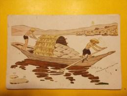 Carte Postale - Le Riz D´ INDOCHINE - Sampan Chargé De Riz (1050/20) - Postales