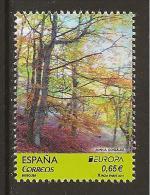 "SPAGNA - EUROPA 2011 - TEMA ANNUALE ""LE FORESTE ´.- SERIE 1 Francobolli Logo EUROPA  - Dent. - Europa-CEPT"