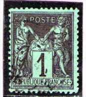 1877 - Groupe Allegorique / SAGE  Tip II  Mi No 68 Et Yv No 83 - 1876-1898 Sage (Type II)