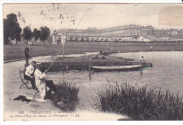 22576 VERSAILLES - Parc Piece Eau Suisses Orangerie LL 363 -peche Pecheur Canne Barque