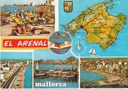 España--Mallorca--1970--El Arenal--Varias Vistas---fechador--El Arenal A Chennevieres,Francia - Mapas