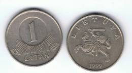 LITUANIA - 1 Litas 1999  KM111 - Lituania