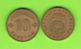 LATVIA - LETONIA - 10 Santimi   1992 Circulada   KM17 - Latvia