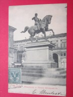 Bologna Monumento à  Vittorio Emanuele II Imprimés Cachet Ferroviaires Edit Ca Pini Timbre Sur Carte - Bologna