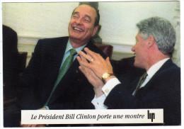Publicité LIP - Le President Bill Clinton Porte Une Montre LIP - 1995 - Werbepostkarten