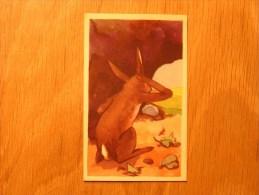 Chromo  N° 76  Le Lièvre Et Les Grenouilles   Chocolat Clovis Pepinster Chocolaterie Belge Trading Card Chromos - Autres