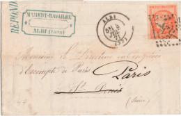Emission De Bordeaux - LAC - N°48 (légèrement Rougeâtre / Vermillon) - Obl. GC -55- Albi De Juillet 1871 - 1870 Emisión De Bordeaux