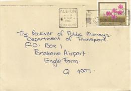 Australia 1983 Albion Cooktown Orchid Flower Pre-stamped Envelope No. 49 Stationary Cover - Postwaardestukken