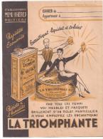 Protège Cahier LA TRIOMPHANTE Etablissements MENU Frères à Poitiers Encaustiques Liquides Et Solides - Protège-cahiers