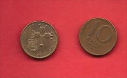 ISRAEL 1980-1984, Circulated Coin, 10 New Agarot, Bronza, Km108, C1714 - Israel