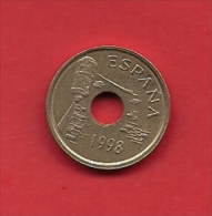 SPAIN 1998, Circulated Coin, 25 Pesetas, Ceuta  Km990, C1724 - [ 5] 1949-… : Kingdom