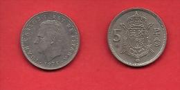SPAIN 1975, Circulated Coin, 5 Pesetas, Juan Carlos,  Km807, C1726 - 25 Peseta