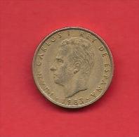 SPAIN 1983, Circulated Coin, 10 Pesetas, Copper Nickel,  Km 827, C1731 - [ 5] 1949-… : Kingdom