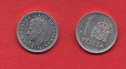 SPAIN 1982-1989, Circulated Coin, 1 Peseta, Juan Carlos Aluminum-bronze,  Km 821, C1733 - [ 5] 1949-… : Koninkrijk