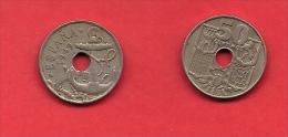 SPAIN 1949, Circulated Coin, 50 Centimos,    Km 777, C1734 - [ 5] 1949-… : Kingdom