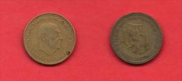 SPAIN 1947-1973, Circulated Coin, 1 Peseta,Franco,   Km775, C1739 - [ 5] 1949-… : Koninkrijk