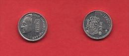 SPAIN 1989-1998, Circulated Coin, 1 Peseta, Juan Carlos, Aluminum,  Km832, C1741 - [ 5] 1949-… : Kingdom
