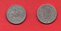 SPAIN 1941,circulated Coin, 10 Centimos, Aluminum, Km766, C1745 - [ 4] 1939-1947: Nationalistische Regering