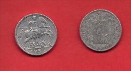 SPAIN 1953, Circulated Coin, 10 Centimos, Aluminum, KM766, C1746 - [ 5] 1949-… : Koninkrijk