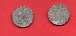 SPAIN 1945,circulated Coin, 5 Centimos, Aluminum, Km 765, C1748 - [ 5] 1949-… : Koninkrijk
