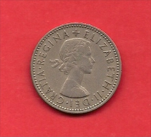 UK, 1954, Circulated Coin, 1 Shilling, Copper Nickel, KM 904, C1765 - I. 1 Shilling