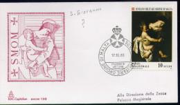 SMOM - 1989 FDC CARAVAGGIO (2475) - Malte (Ordre De)