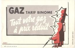 Buvard -  Gaz Tarif Binome - TTB - Gas, Garage, Oil
