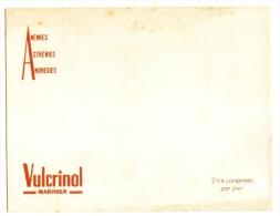 Buvard Pharmacieutique - VULCRINOL -* Anemies - - Droguerías