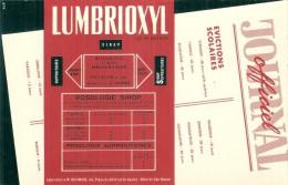 Buvard Pharmacieutique -  LUMBRIOXYL  TTB - Chemist's