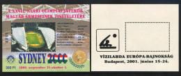 HUNGARY-2001.Overprinted Commemorative Sheet Pair -  Water Polo European Championships, Budapest 1958-2001  MNH! - Herdenkingsblaadjes