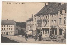 CPA (Belgique) : Saint Hubert - Place Du Marché (avec Magasins Et Animation) - - Unclassified