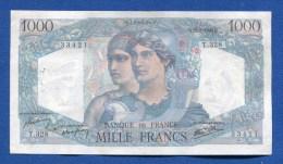 1000 Fr 12/9/1946 - 1 000 F 1945-1950 ''Minerve Et Hercule''