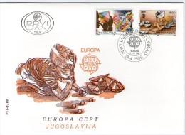 Yugoslavia, 1989, EUROPA, FDC - FDC