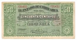 Edo. Chihuahua, 50 Cents. 1914, VF+++. - Mexico