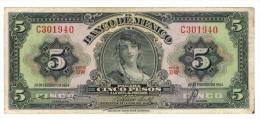 Mexico 5 Pesos. 1954, VF/XF. - Mexico