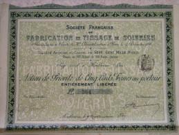 Société Française De Fabrication Et Tissage De Soieries, Siège Social à Montbrison (Loire) - Textile
