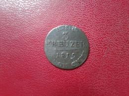 "GERMAN STATES : SAXE-COBURG-SAALFELD  ""3 KREUZER 1819 - Piccole Monete & Altre Suddivisioni"