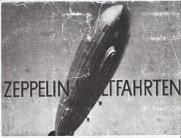 GERMANY  ZEPPELIN- WELTFAHRTEN  CIGARETTE  CARD  BOOK - Airmail