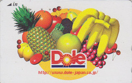 Télécarte Japon - DOLE FRUITS Ananas Banane Cerise Pamplemousse Orange Pomme Avocat Citron - FRUIT Japan Phonecard - 37 - Lebensmittel