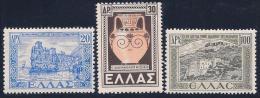 Greece, Scott # 506-7,509 Mint Hinged Various Subjects, 1947 - Greece