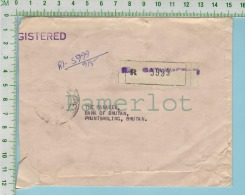 Cover Flamme 1979 Registered  No Stamp At The  Front And 6 Stamp At The Bac  2 Nu, 4 X 20ch, 1X5 Ch) 2 Scan - Bhoutan
