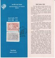 Stamped Information On Quit India, Gandhi, India 1992 - India