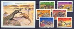 Kazakhstan 1994 Snakes. Reptiles. Set + Block** - Snakes