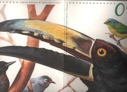 Bloc N°56 De 2003 - Oiseaux D´Outre Mer, LA REUNION - MARTINIQUE -GUYANE - 6 Scannes -1er Jour. Doc Officiel De La Poste - Documents De La Poste