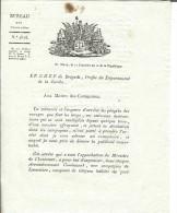 An 10 De La République-Sarthe-Consignes Aux Maires Pour Chasser Les Loups - Documents Historiques