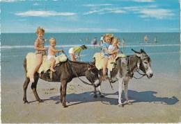 Children On Ponies At Beach, Holland - Kruger 916-20, Posted 1966 - Scenes & Landscapes