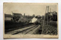 Cpa De Vaucresson Train Sortant Du Tunnel Coll Schnabel - Stations - Met Treinen